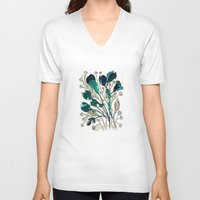 emerald V-neck T-shirts featuring Emerald by Tonya Doughty