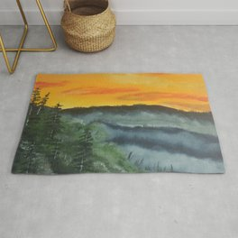 What lies beyond the valley Rug