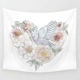 bird of paradise , paradisebirds , simple floral graphic design , gift for gardener Wall Tapestry