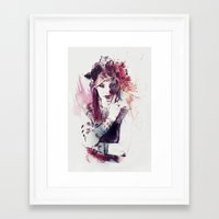 moulin rouge Framed Art Prints featuring Rouge by Galen Valle