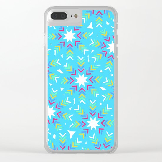Decoration in blue Clear iPhone Case