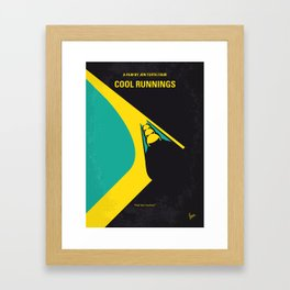 No538 My COOL RUNNINGS minimal movie poster Framed Art Print
