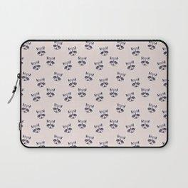 Raccoon Beige Pattern, Woodland Baby Animals, Cute Nursery Animals Kids Room Decor Laptop Sleeve