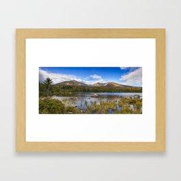 Katahdin Range Panorama Framed Art Print