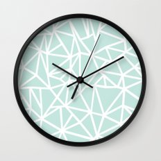 Ab Outline Thick Mint Wall Clock