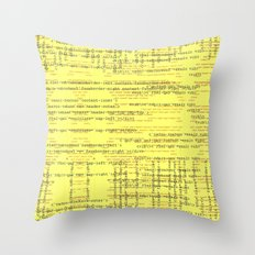 Code Yellow Throw Pillow