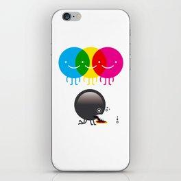 CMY makes K dizzy iPhone Skin