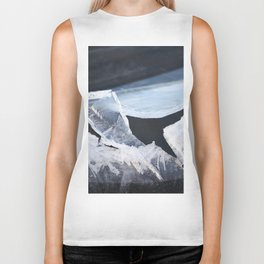 Broken Ice Winter Scene #decor #society6 #buyart Biker Tank
