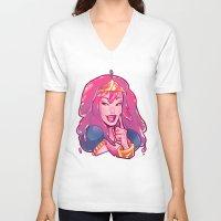 bubblegum V-neck T-shirts featuring bubblegum by asieybarbie