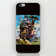 howl's moving castle iPhone Skin
