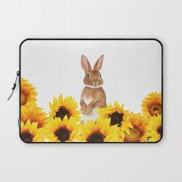 Sunflower Rabbit Laptop Sleeve