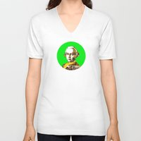 mozart V-neck T-shirts featuring Mozart Kugel Green by Marko Köppe
