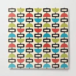 Mid Century Modern Geometric Pattern 256 Metal Print