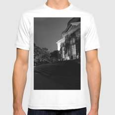 Castle by night White MEDIUM Mens Fitted Tee