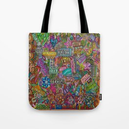 Dog 2 in many languages Tote Bag