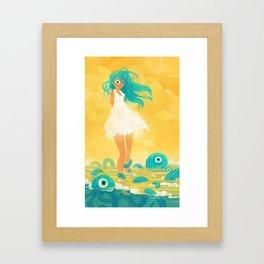 Squid Girl Framed Art Print