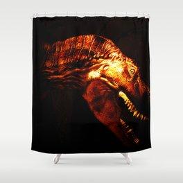 Tyrannosaurus Rex dinosaur in light. Shower Curtain