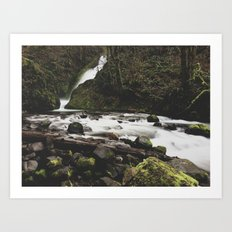 Lower Bridal falls Art Print