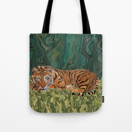 Tiger's Sunday Serendipity  Tote Bag