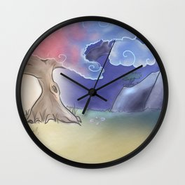 Day to Night in the Mountains Wall Clock