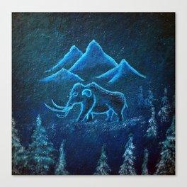A Mammoth Journey Canvas Print