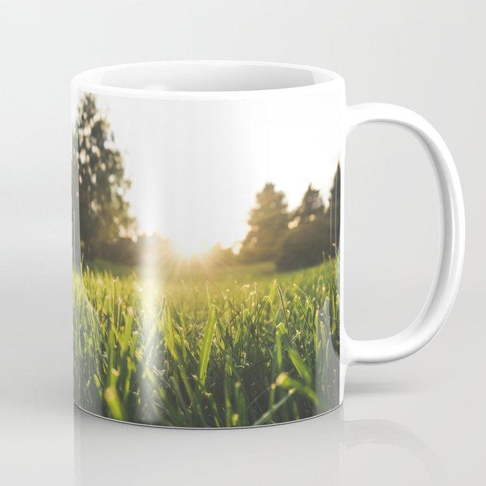 Sunset over the Blades Coffee Mug