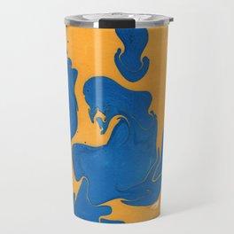 Citrus Berry Marble Painting Travel Mug