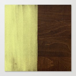 Yellow Paint on Wood Canvas Print