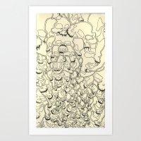 skull tower Art Print