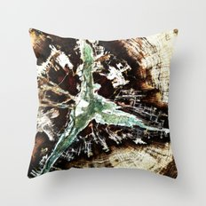 Green Vein Throw Pillow