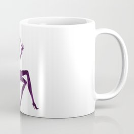 DIVA WITH make up brush - PAINTED - Gorgeous VIOLET Coffee Mug