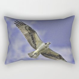 Osprey In The Clouds Rectangular Pillow
