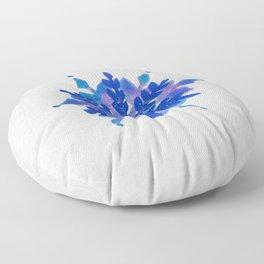 WATERCOLOR SNOWFLAKE 4 - blue and purple palette Floor Pillow