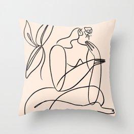 Summer lines X|| Throw Pillow
