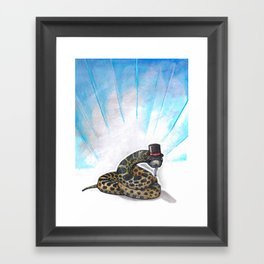 Ssssseriously Framed Art Print