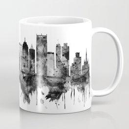 Detroit Michigan Skyline BW Coffee Mug