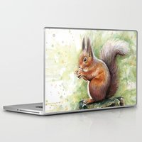 squirrel Laptop & iPad Skins featuring Squirrel by Olechka