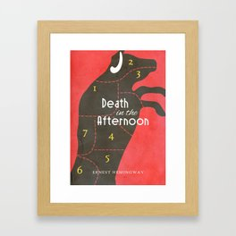 Death in the Afternoon, Erenst Hemingway, book cover, classic novel, bullfighting stories, Spain Framed Art Print