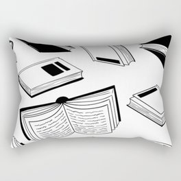 BOOK OBSESSION MONOCHROME PATTERN Rectangular Pillow