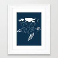 discworld Framed Art Prints featuring Discworld by Rebecca McGoran