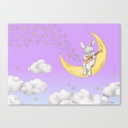 ukulele rabbit Canvas Print