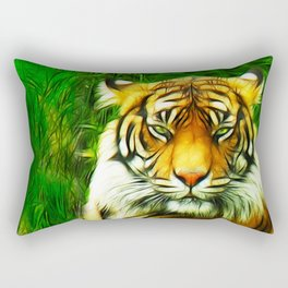 Tiger is Not Amused Rectangular Pillow