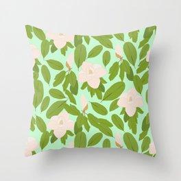 Southern Magnolias Throw Pillow