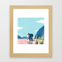 Rice planting Framed Art Print