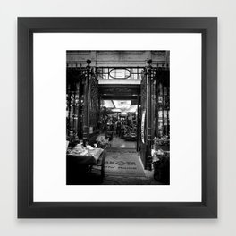 Welcome to Cafe Roma Framed Art Print