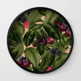 FRUITS AND LEAVES Wall Clock