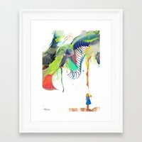 archan nair Framed Art Prints featuring Azalia by Archan Nair