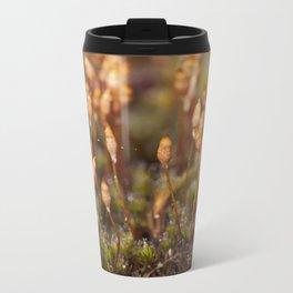Red moss flowers Metal Travel Mug