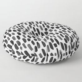 Black and White Dotty Pattern Floor Pillow