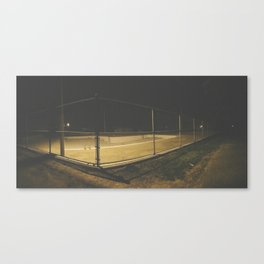 Empty Public Pool at Night Canvas Print